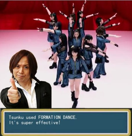 Tsunku used FORMATION DANCE and it's super effective